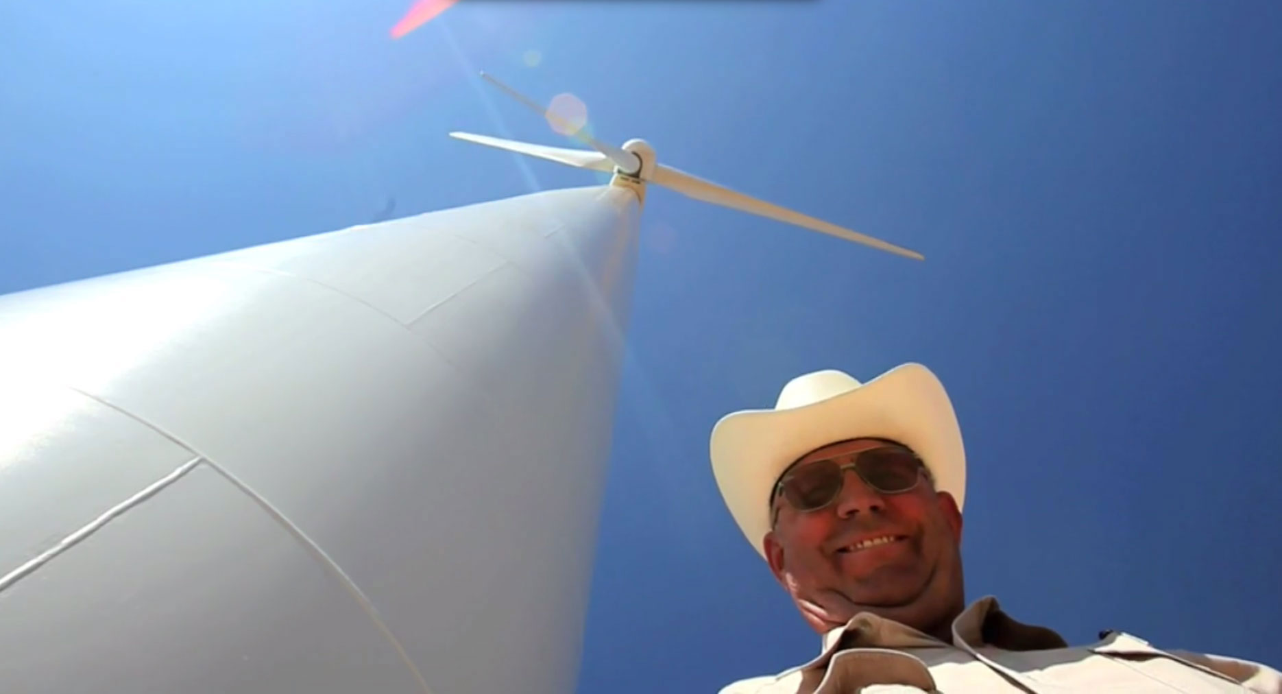 man with windmill