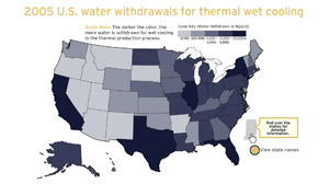 THE POWER OF WATER: Wet cooling withdrawals
